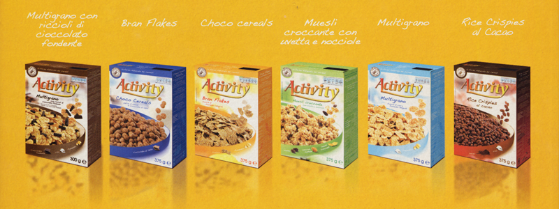 cereali activity cross selling