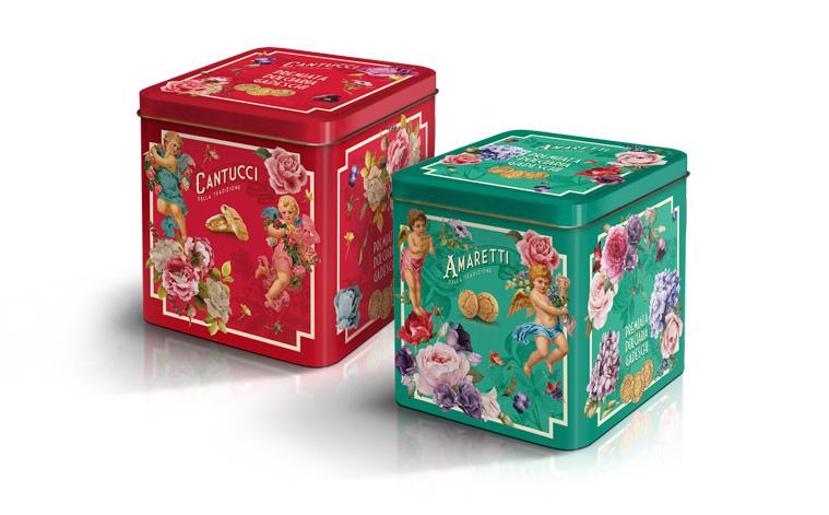 Tin box cherubini gadeschi